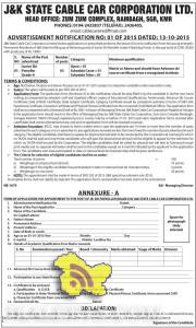 Junior Ski Patroller Grade-ll jobs in J&K STATE CABLE CAR CORPORATION LTD