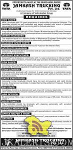 JOBS IN TATA JAMKASH TRUCKING PVT LTD