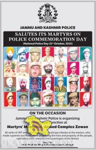 J&K Police SALUTES ITS MARTYRS by organizing a State Level Function