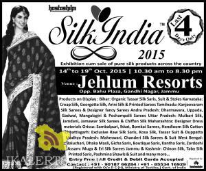 Silk India Exhibition Cum sale in Jhelum resort Jammu Near Bahu plaza