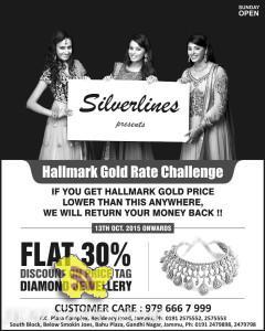 Silverlines FLAT 30% DISCOUNT ON PRICE TAG DIAMOND JEWELLERY