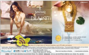 Tanishq festival offer on gold and diamond jewellery