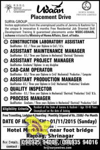 Jobs in Surya Group Srinagar