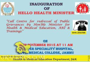 INAUGURATION OF HELLO HEALTH MINISTER SUPER SPECIALTY HOSPITAL GMC