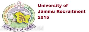 Associate Professor, Assistant Professor, Professor jobs in Jammu University, Employment News 2015