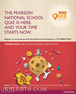 THE PEARSON NATIONAL SCHOOL QUIZ 2015