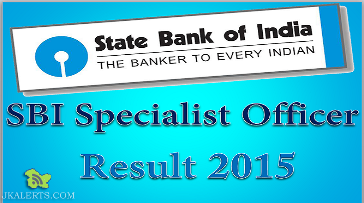 SBI RECRUITMENT OF SPECIALIST CADRE OFFICERS 2015