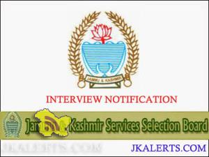 JKSSB Notification Regarding Declaration of result, Shortlisting of candidates