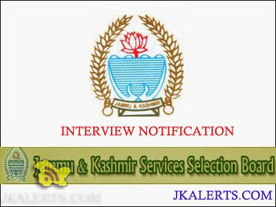 JKSSB Interviews of Horticulture Technician-IV, Ganderbal, Baramulla and Kupwara