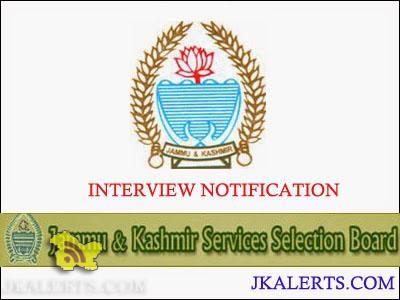 JKSSB Interviews of Horticulture Technician-IV, Ganderbal, Baramulla and Kupwara