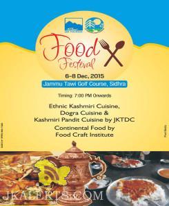 Food Festivals Jammu Tawi Golf course Sidhra