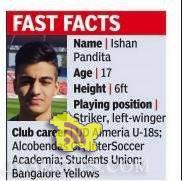 Kashmiri Pandit Ishan Pandita the first Indian to play in European Football Club