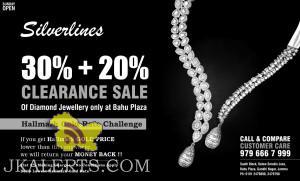 Discount on diamond jewellery Silverlines Jammu