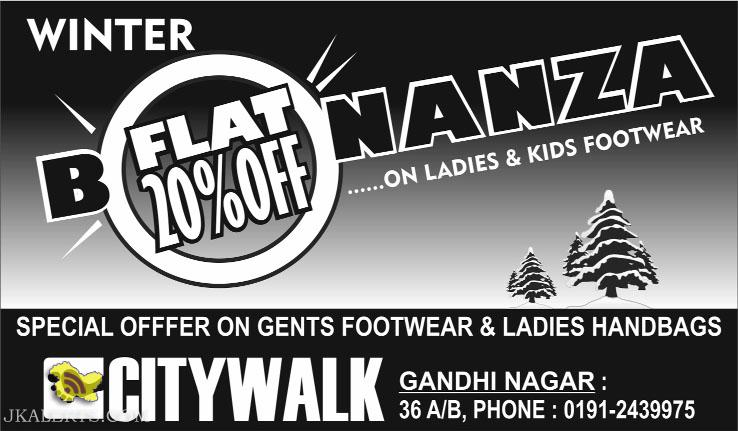 Winter sale on Kids Ladies footwear City walk Jammu