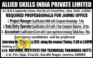 Project Manager, Project Manager, Accountant jobs in Jammu