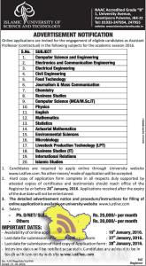 JOBS IN ISLAMIC UNIVERSITY OF SCIENCE AND TECHNOLOGY