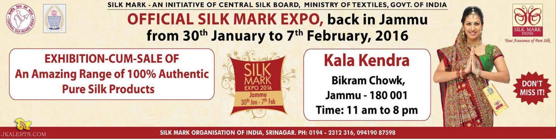 EXHIBITION-CUM-SALE OF An Amazing Range of 100% Authentic Pure Silk Products