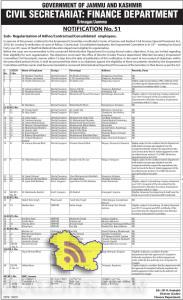 Regularization of Adhoc/Contractual/Consolidated employees in Finance Department