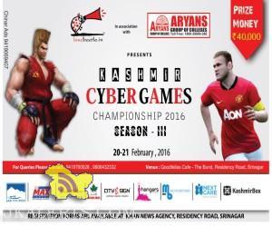 Kashmir Cyber Games Championship Season III 2016