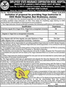 JOBS IN EMPLOYEES' STATE INSURANCE CORPORATION MODEL HOSPITAL