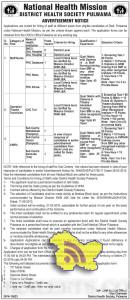 Staff Nurse, Operation Theatre Technician ANM's Jobs in NHM pulwama Srinagar