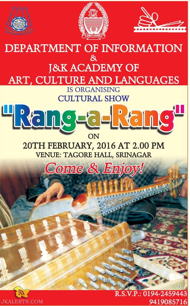 RANG A RANG CULTURAL SHOW ON DEPARTMENT OF INFORMATION & J&K ACADEMY OF ART, CULTURE AND LANGUAGES