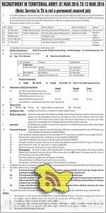 Recruitment in Territorial army, Rally for Soldier (General Duty) &Tradesmen Jammu and Kashmir Light Infantry