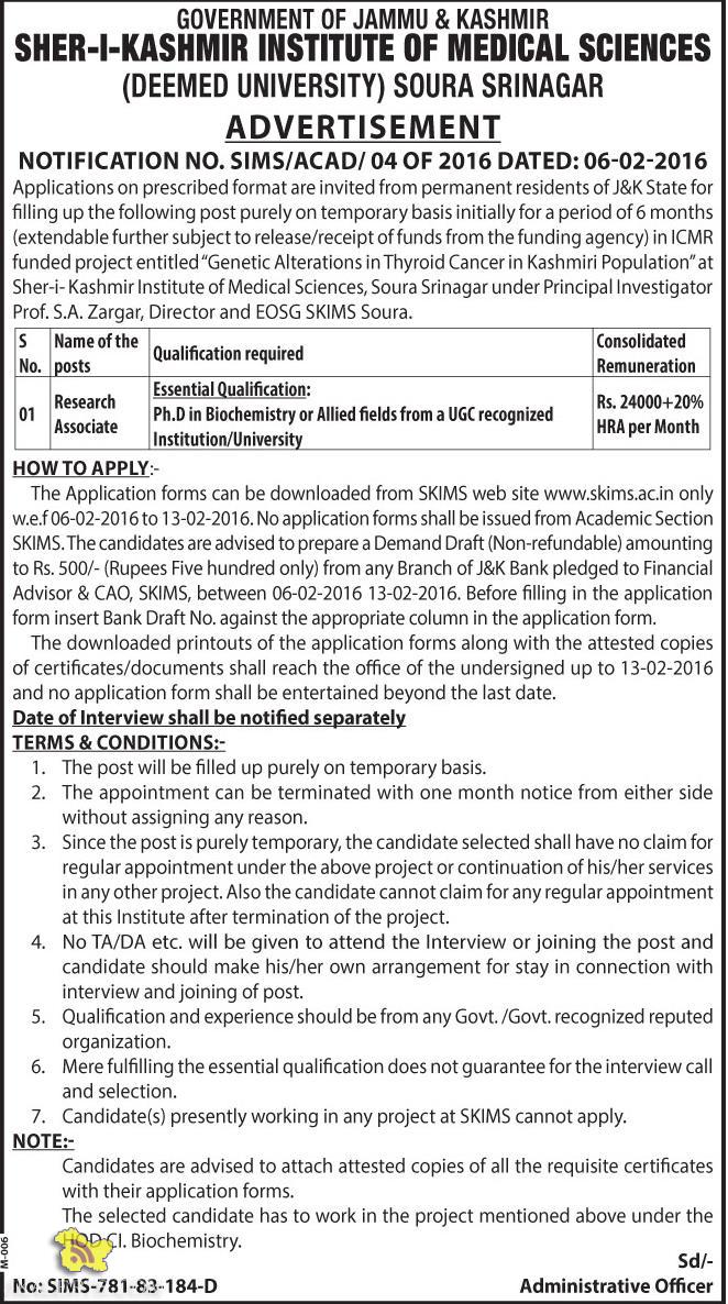 """GOVERNMENT OF JAMMU AND KASHMIR Directorate of Archives, Archaeology & Museums Jammu Sub: Selection list of candidates for different categories of Class-IV posts (Kashmir Division) in the Department of Archives, Archaeology and Museums, J&K Govt. NOTIFICATION Whereas, vide Advertisement Notification No. 01-of-2014 dated:-21-08-2014, 22 posts of Class-IV in the Department of Archives, Archaeology and Museums Kashmir Divisions, were advertised; and Whereas, modification/re-advertisement notification was issued vide no: DAMA-4088-91 /AD-30 dated: 16-09-2015; and Whereas, vide Government order No. 31 -Cul of 2015 dated:21 -04-2015, a Divisional Level Selection Committee was constituted for selection of various categories of Class-IV posts in the Department of Archives, Archaeology and Museums Kashmir Division; & Whereas, shortlist of the candidates was issued vide this office notification no: DAMA-4495-97/AD-30 dated:10-11-2015 in the ration of 1:5. Whereas, the interview of the shortlisted candidates was conducted on 23rd and 24,h of November 2015 at Srinagar. Now, therefore, on the basis of weightage for the academic merit and higher qualification (10+2) and performance in the interview, the Selection List against the advertised posts, in order of merit (forming """"Annexes"""" to this) is hereby notified. Note:- The Department reserves the right to have the certificates/documents of all candidate verified."""