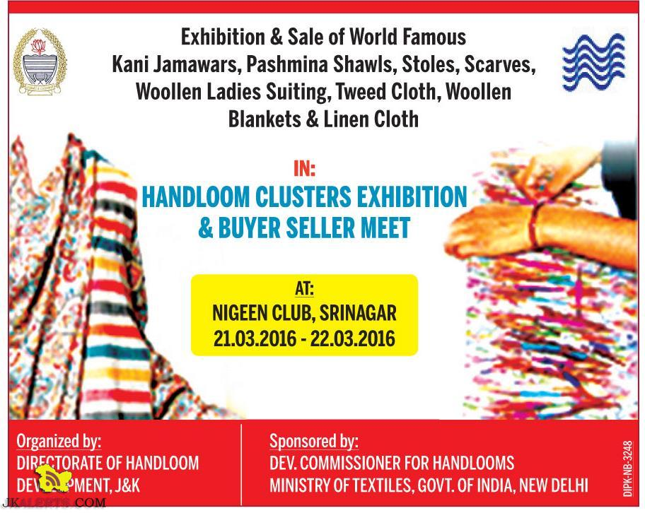Exhibition & Sale of Kani Jamawars, Pashmina Shawls, Stoles, Scarves, Woollen Ladies Suiting, Tweed Cloth,