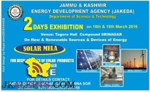 JAKEDA 2 DAYS EXHIBITION On New & Renewable Sources & Devices of Energy