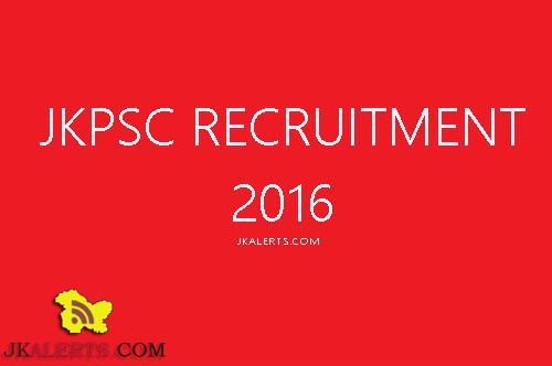 JKPSC Recruitment 2016 Agriculture Engineering