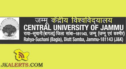 Research Assistant Walk-in Interview in CENTRAL UNIVERSITY OF KASHMIR, jobs in CUK