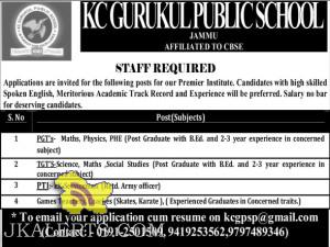 Jobs in KC Gurukul public school