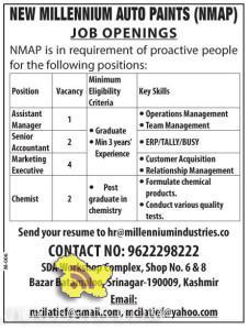 JOBS IN NEW MILLENNIUM AUTO PAINTS (NMAP)