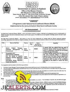 Jobs in J&K State Rural Livelihoods Mission,