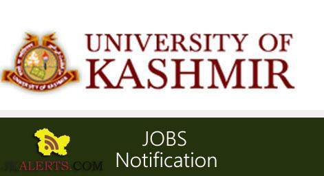 Jobs in Kashmir University JRF and Research Assistant posts
