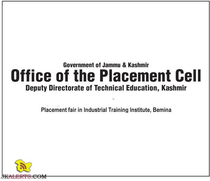 Placement fair in Industrial Training Institute, Bemina