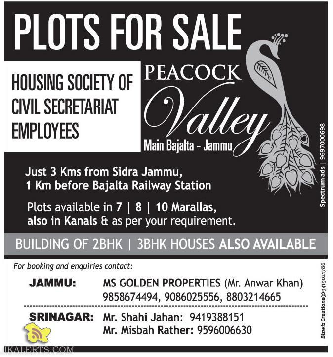 PLOTS FOR SALE HOUSING SOCIETY OF CIVIL SECRETARIAT EMPLOYEES