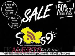 Sale on ladies, Gents and Kids Footwear's Shoes9 Gandhi nagar