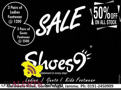 Sale on ladies, Gents and Kids Footwear's Shoes9 Gandhi nagar