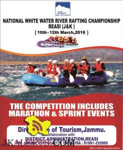 NATIONAL WHITE WATER RIVER RAFTING CHAMPIONSHIP REASI (J&K)