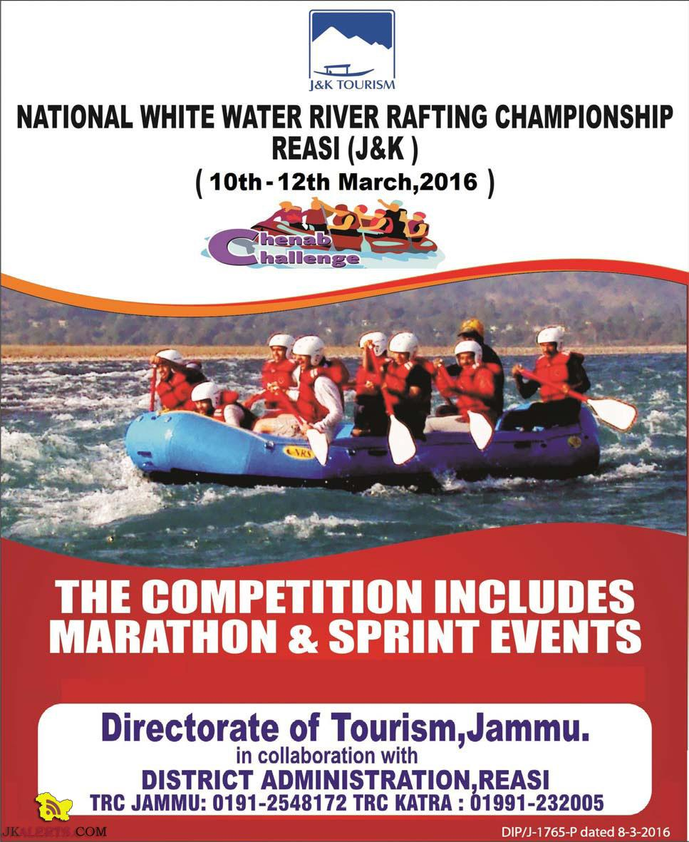 NATIONAL WHITE WATER RIVER RAFTING CHAMPIONSHIP REASI (J&K)