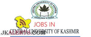 CENTRAL UNIVERSITY OF KASHMIR EMPLOYMENT NOTIFICATION FOR NON-TEACHING POSTS