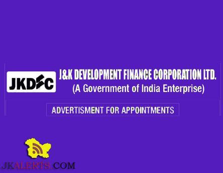 GOVT JOBS J&K DEVELOPMENT FINANCE CORPORATION LTD.