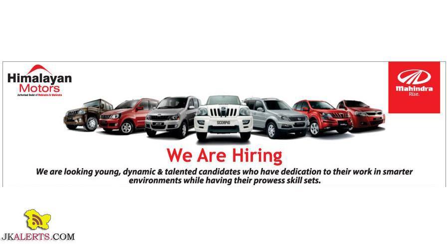 Himalayan Motors hiring for Baramulla, Kupwara, Pattan, Ganderbal, Bandipura, Anantnag.