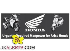 Jobs in Arise Honda Authorised Dealer srinagar