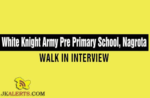 Jobs in White Knight Army Pre Primary School, Nagrota
