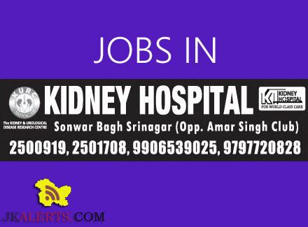 PHARMACIST, DIALYSIS TECHNICIAN, DRIVER JOBS IN KIDNEY HOSPITAL SRINAGAR