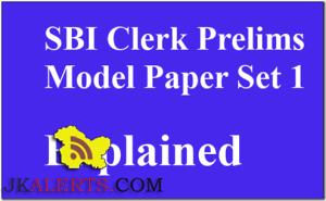 SBI CLERK (preliminary) MOCK TEST –1 SBI Clerk paper 2016