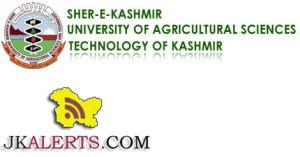 SKUAST Kashmir Jobs